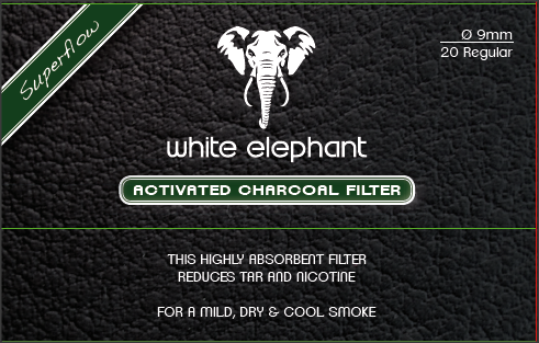 Filtre pipa 9mm Activate Charcoal White Elefant (20)