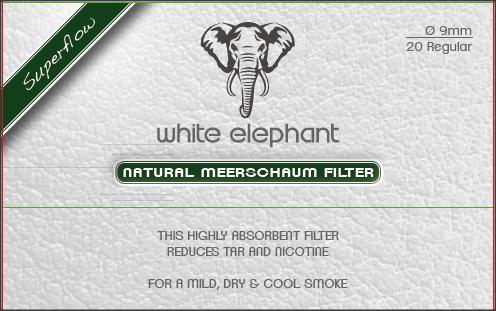 Filtre pipa 9mm Natural Meerschaum White Elefant (20)