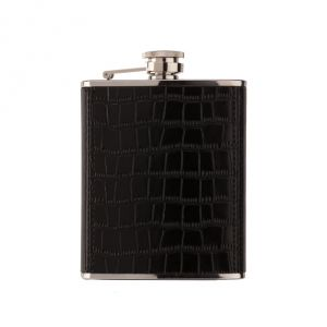 Alcohol flask Black Croco