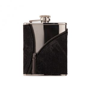 Alcohol flask Jeans Look with Zipper