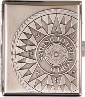 Cigarette case COMPASS Chrome Antique