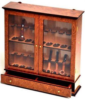 Vitrina pt 18 pipe + sertar accesorii Savinelli