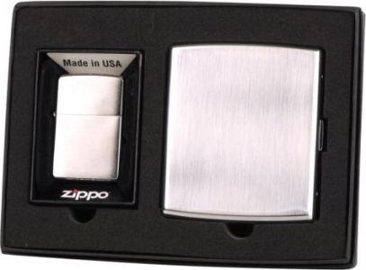 Zippo GIFT SET (Bricheta 200 si Tabachera)