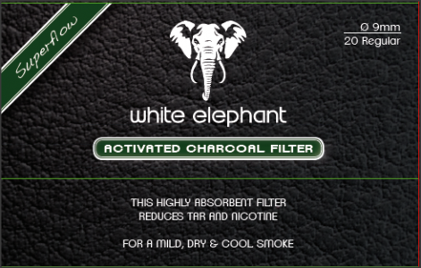 Filtru pipa Active Charcoal White Elefant (20)