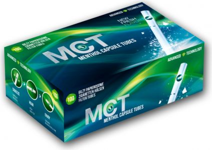 MCT Tuburi cu filtru capsule Menthol (100)